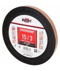 Compriband KOMO zwart 25x25mm 6.6M1