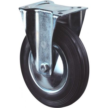 Bokwiel zwart+plaat 125mm