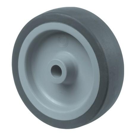 Kunstst.wiel glijl.grijs rub loopvl 75mm