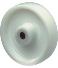 Kunstst.wiel met rollager125mm wit