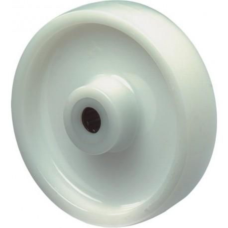 Kunstst.wiel met rollager150mm wit