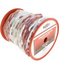 Kunststof ketting rood/wit 6x25mm rol/25M