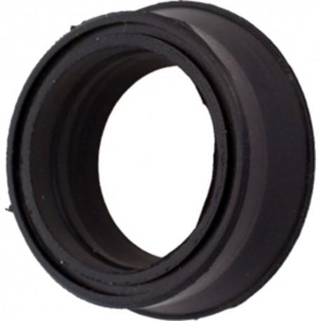 Meubelwiel zwart met plaat 50mm